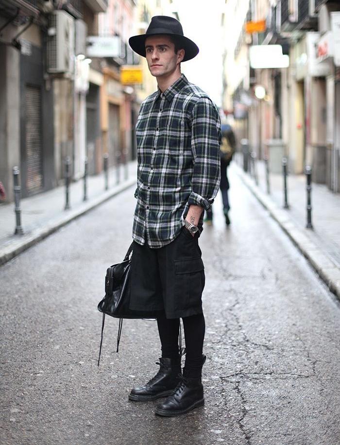 style homme casual men grunge hispter chapeau noir jean slim chemise doc martens e1496062673224. Black Bedroom Furniture Sets. Home Design Ideas
